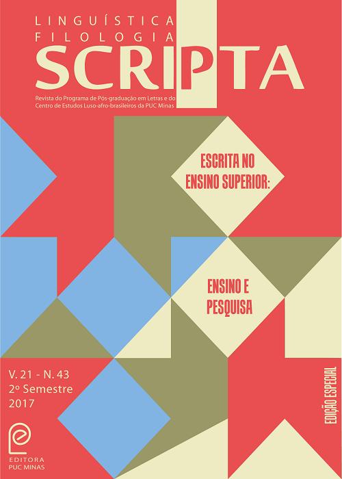 Resultado de imagem para Revista Scripta v. 21, n. 43 (2017)